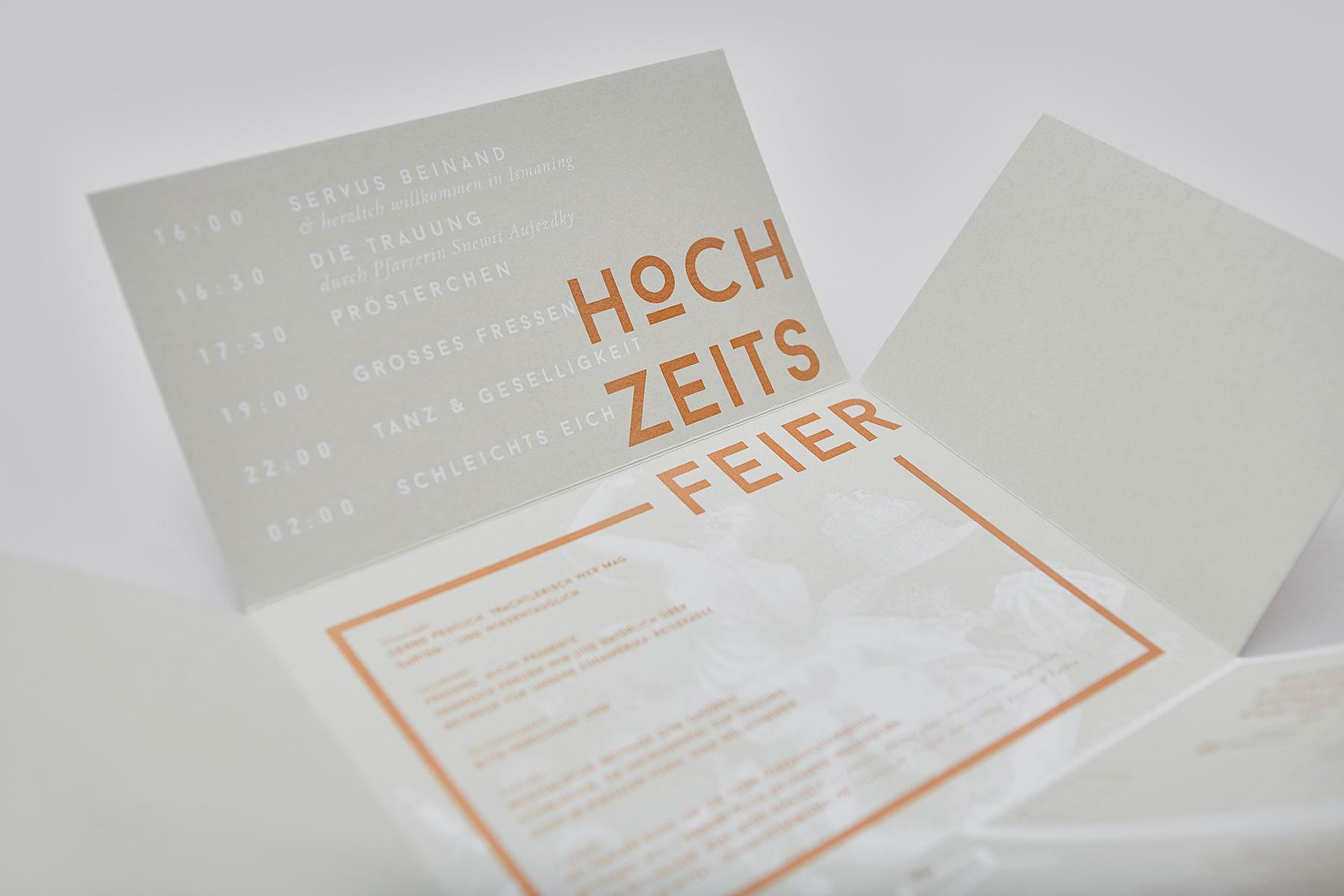 NotJust Hochzeit Grafik Siebdruck Einladung