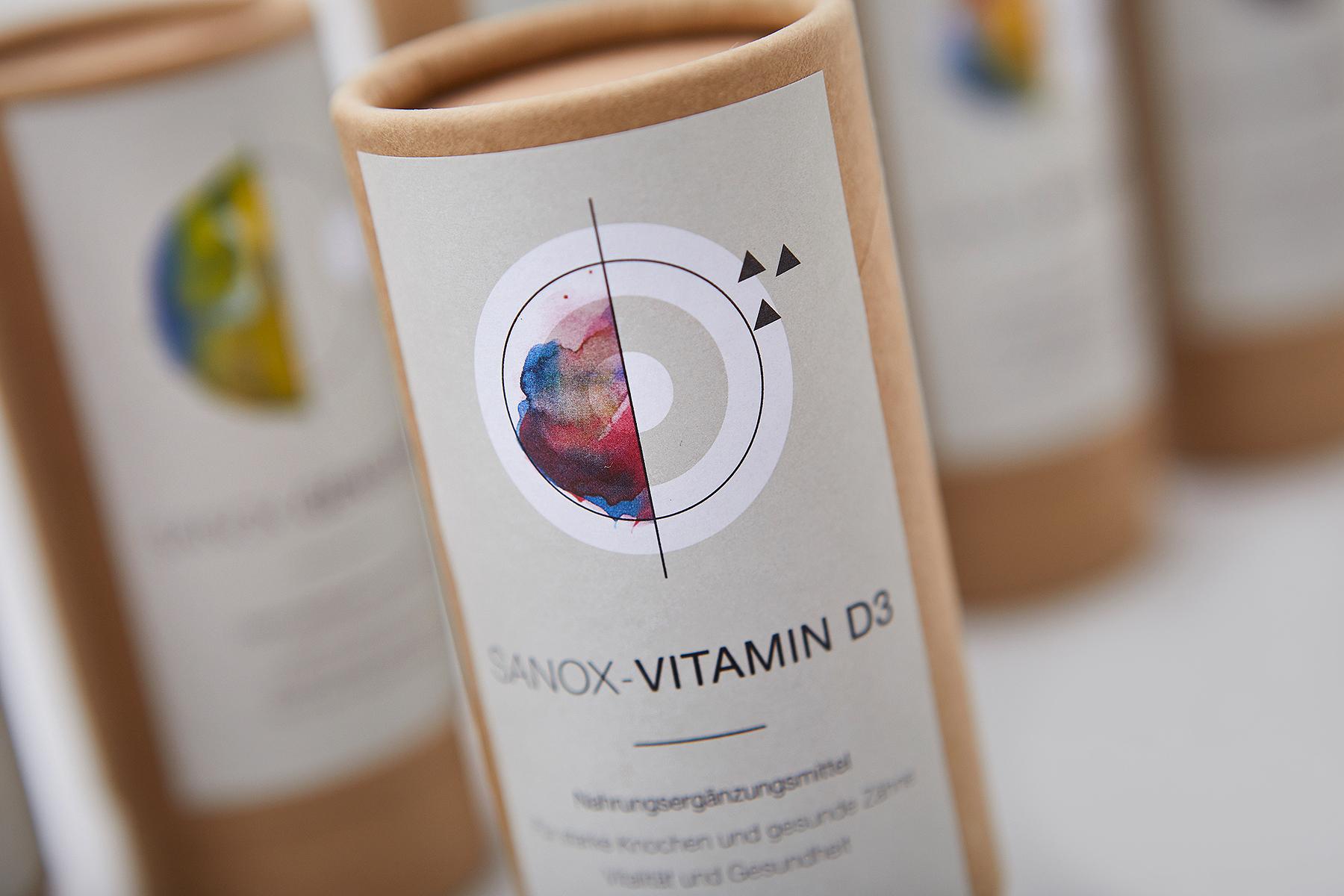 NotJust Sanoxsys Nahrungsergänzung Verpackungsdesign